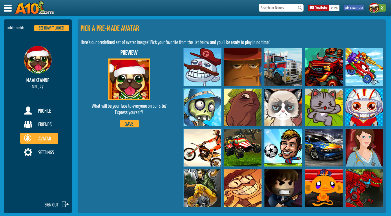 A10 Profile Page - Avatar