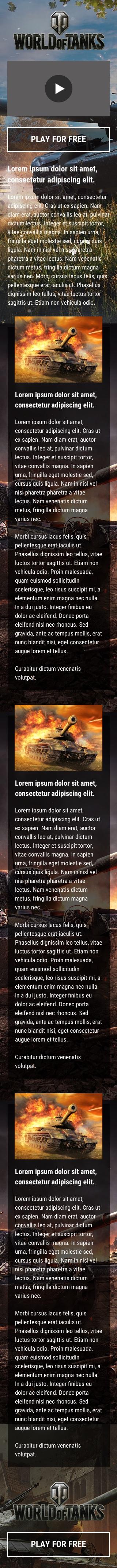 Advertising Landing Page Mobile