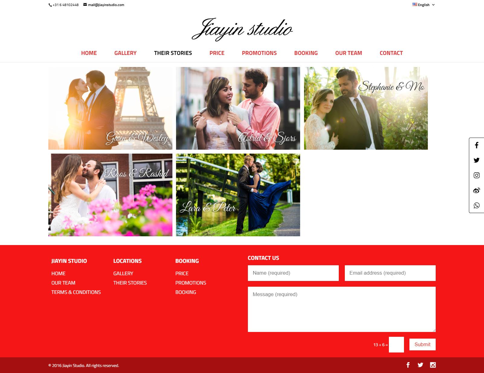 Jiayin Studio Their Stories Page