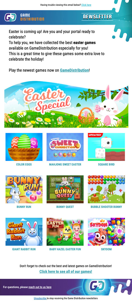 Email Easter Special