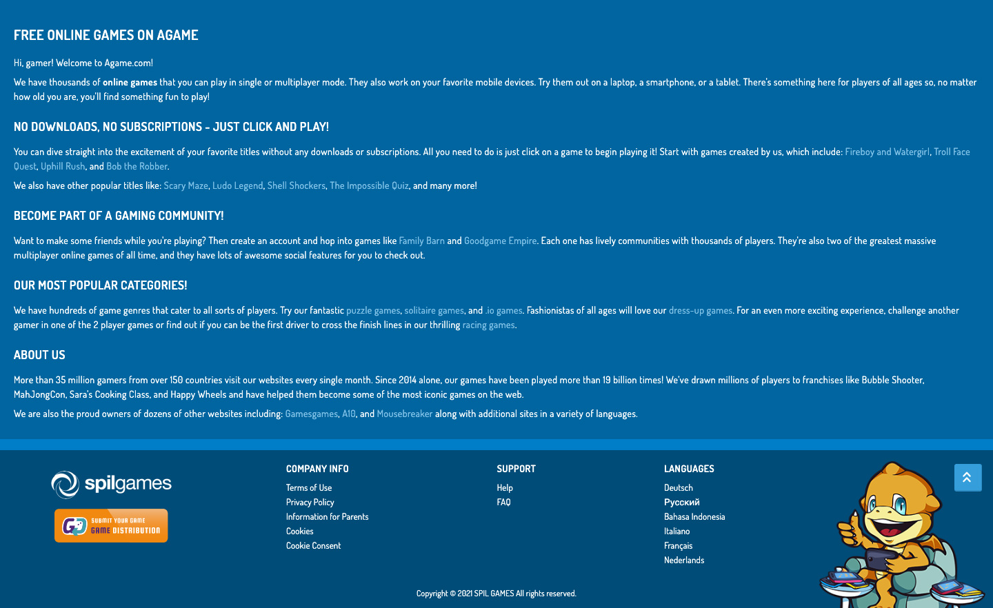 Footer Redesign - Agame