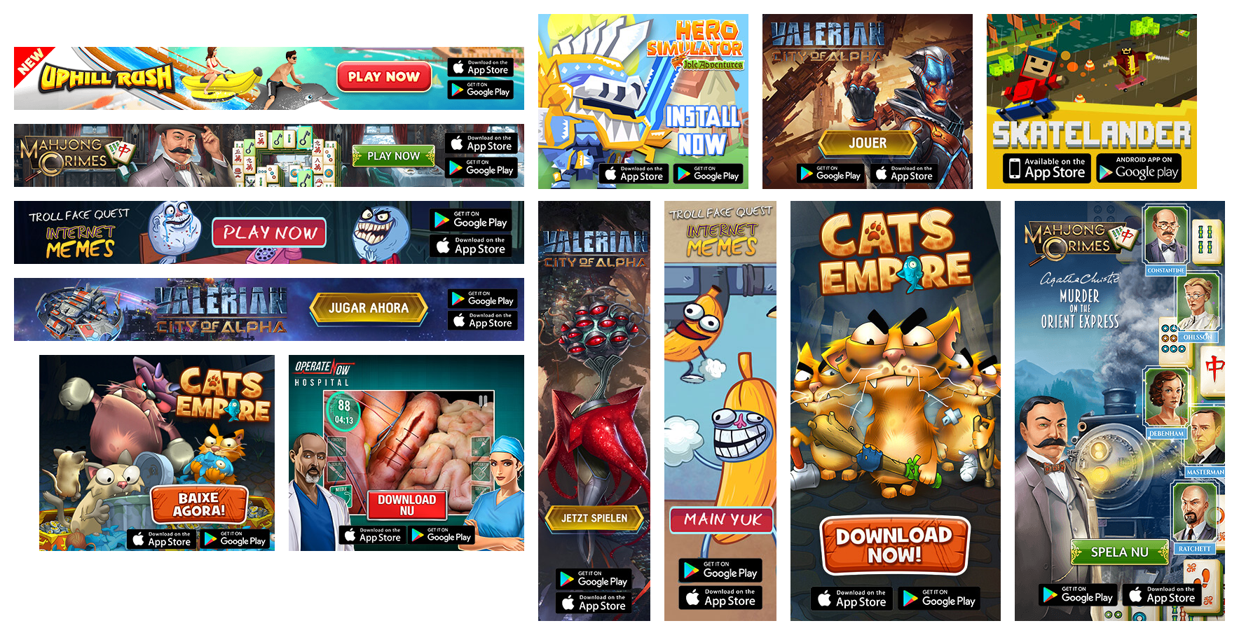 Mobile Apps Advertising Promotion Collage